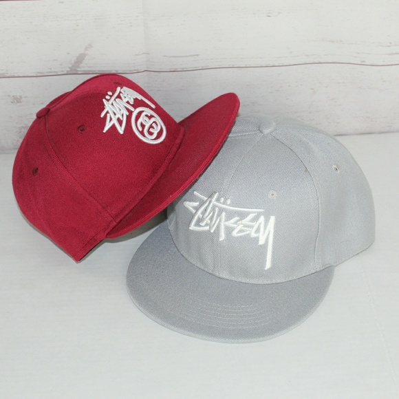 Vintage Snapback Hats >> Stussy Accessories Vintage Snapback Hats Lot Of 2 Poshmark